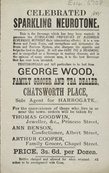 Advert For George Wood, Grocer And Tea Dealer